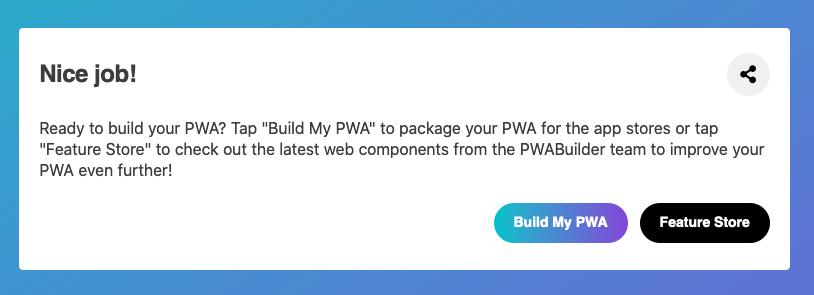 PWA auf PWABuilder.com für den App Store einpacken